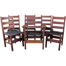 Antique Set Of 6 Gustav Stickley Dining Chairs W5000 : Antique ... Sold Country French Carved Oak 1920s Ding Set Table 2 Draw 549 Jacobean Style 8 Pc Room Set Wi Jun 19 Stickley Mission Cherry Collection By Issuu Products Tagged Gustav The Millinery Works Antique Of Six 4 And Ljg A Restored Arts Crafts Bungalow Old House Journal Magazine Of Mahogany Chippendale Style Chairs C 1890 Craftsman On Fiddle Lake Vacation In Ski Amazoncom Michigan Chair Company Hall W1277 Harvey Ellis Nesting Tables Five Fan Back Windsor Bamboo Turned 6 W5000
