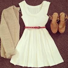 Dress White Cute Summer Jacket Belt Cardigan Ivory Pink Suede Shoes