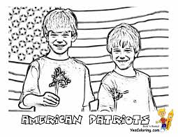 American Boys Patriots Coloring Page At YesColoring 4th Of July Eagle Printable