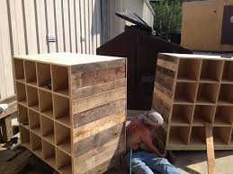 Pallet Wood Cube Walls They Are Double Sided And Feature 16 Cubes On Each Side Diy PalletPallet IdeasPallet