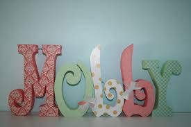 Coral Colored Decorative Items by Baby Name Letters Nursery Decor Nursery Letters 5 Letter