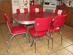 Red Retro Kitchen Chairs Table Home Decor Interior Exterior Pictures