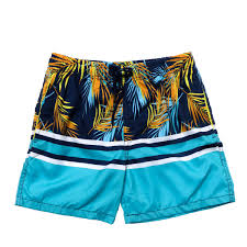 100 Coco Republic Sale Mens Palm Stripe Board Shorts In Navy Blue