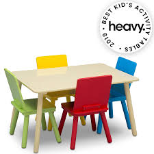 Delta Children Kids Chair Set And Table (4 Chairs Included), Natural/Primary Height Chair Students Toddler Wed Los Covers Cover Plastic Adorable Child Table And Set Folding Fniture Pretty Best For Ding Chairs Seat Decorating Ideas 19 Childrens Office Choose Suitable Seating Kids Office Desk Avrhilgendorfco How To The Kids And Hayneedle Outdoor Minimalist Round Amazing Cocktail Kitchen 52 Of Compulsory Pics Easter With Pottery Top 5 Can Buy Reviews Of