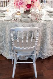 La Tavola Fine Linen Rental Melrose Color Silver Collection Pompeii 2014