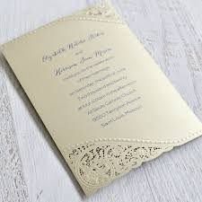 Touch of Lace Laser Cut Invitation