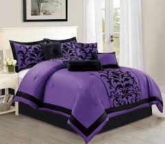 Lavender And Grey Bedding by Black Comforters
