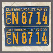 100 Truck License 1939 California YOM Plates For Sale Original Pair N8714