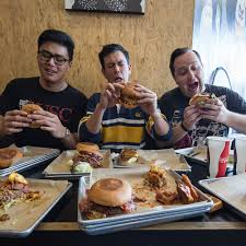 100 Grill Em All Food Truck Eating The Entire Heavy Metal Burger Menu At Alhambras