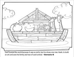 Noah39s Ark Bible Coloring Pages What39s In The Intended For Noah