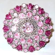cloisonne jewel knob pink cabinethardware hardware included