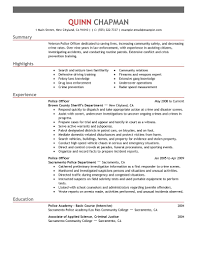 Police Officer Resume Example 5 Create My 13