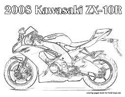 Free Motorcycle Coloring Page Letscoloringpages Kawasaki ZX 10R
