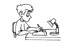 Coloring Page Writing Homework