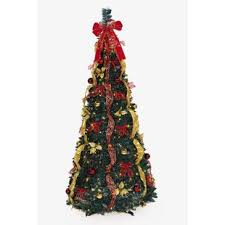 Pop Up 6 Green Artificial Christmas Tree With 350 Clear Lights