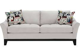Cindy Crawford White Denim Sofa by Sleeper Sofas