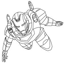 Iron Man Coloring Flying