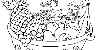 Awesome Collection Of Fruit Basket Coloring Pages Print In Worksheet