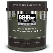BEHR Premium Plus Ultra 1 Gal Ultra Pure White SemiGloss Enamel