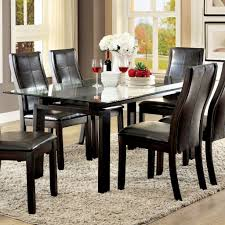 Furniture Wooden Dining Chairs Fresh Room Rectangle Glass Top For Wood Table With