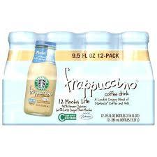 Starbucks Vanilla Light Frappuccino Mocha Coffee Drink Pack Fl Oz Glass Syrup Nutrition