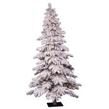 Puleo Christmas Trees by Pre Lit Artificial Christmas Trees Utica Flocked Prelit Led