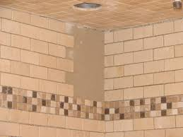 bathroom tileable shower base design ideas with mosaic tile wall
