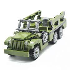 100 Custom Toy Trucks Koolfigure WW2 US Army Dodge Personnel Carrier Military Truck Building Blocks Set MOC Bricks 255PCS