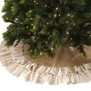 Saro Cotton Jute Ruffled Tree Skirt