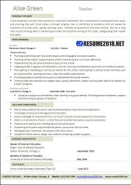 Latest Teacher Resume Examples