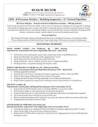 Welding Resume Objective Inspector Sample