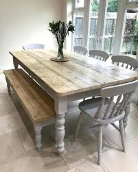 Distressed Dining Table Round Uk