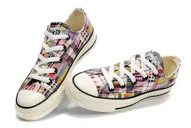 converse all plaid converse all low top graffiti colorful plaid canvas shoes