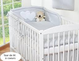 comment mettre un tour de lit bebe tour de lit bébé 120 60 ou 140 70 gris à coeurs fr