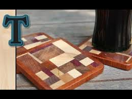 woodworking project scrap wood coasters drink mats youtube