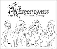 Coloring Pages Descendants Sonlycom S 2 Carlos