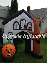 Large Blow Up Halloween Decorations by Halloween Halloween Horrible Font Haunted House Entrance