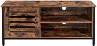 tv schrank sideboard lowboard industrial design fächer lamellentüre vintagebraun schwarz