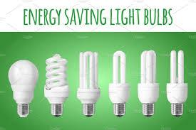 6 energy saving light bulbs objects creative market