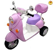 Baybee Elegant Vespa Battery Operated Scooter Pink