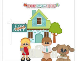 Our First Home 1 Clipart Digital Zip Download