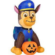 Halloween Blow Up Yard Decorations Canada by Gemmy Airblown Inflatable 4 U0027 X 2 U0027 Paw Patrol Chase With Pumpkin
