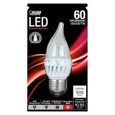 feit 60 watt chandelier led light bulb soft white target