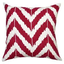 Red Decorative Pillows by Ikat Zigzag Accent Pillow Stencil Kit U2013 Cutting Edge Stencils