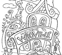 The Grinch Coloring Pages How Stole Christmas Free Printables To For Kid