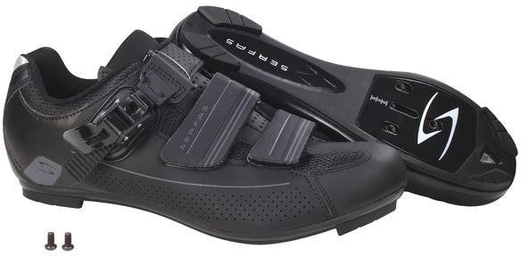 Serfas Men's Leadout Buckle Road Cycling Shoe - SMR-501B (Black - 48)