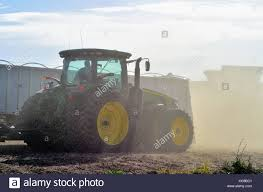 100 Northeastern Trucks Dust From Just Harvested Corn Surrounds Tractors Combines And
