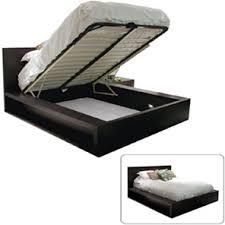 EQ3 Bedding BOSSA Queen Platform Bed with Storage Mechanism The