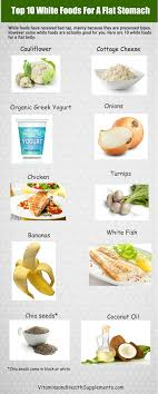 Top 10 White Foods For A Flat Stomach Infographic