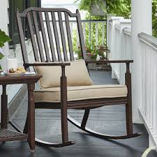 Canora Grey Bade Porch Rocking Chair With Cushions   Wayfair Highwood Lehigh Plastic Rocking Chair With Slat At Lowescom Amazoncom Outsunny Porch Outdoor Patio Wooden Adirondack Yvonne Acacia Wood Frame Traditional Gdf Studio Hampton Bay Spring Haven Brown Allweather Wicker Design Front Chairs Elbrusphoto And Landscape Cracker Barrel White Chairs_boston Ferns_front For Plans Holly Hunt Siren Price Veterans Against The Deal Interesting